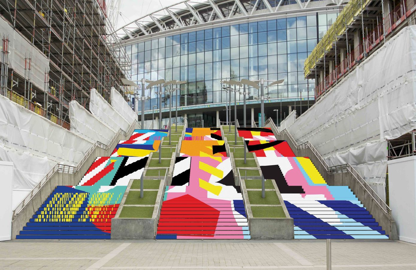 London Graphic Design - Wembley park steps