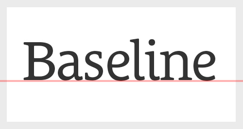 Graphic design dictionary - Baseline